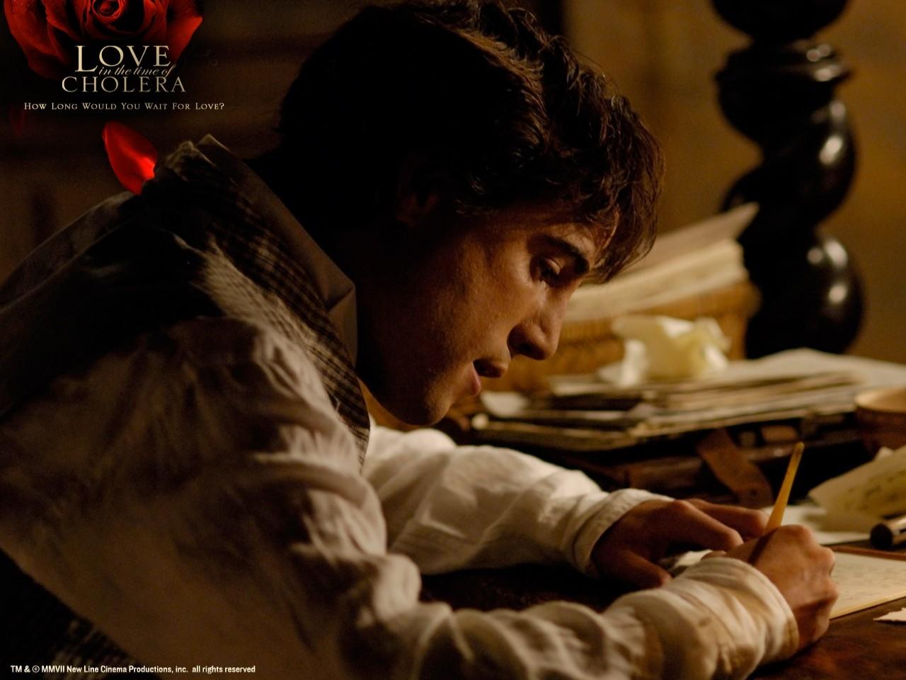 Wallpaper del film L'amore ai tempi del colera con Javier Bardem