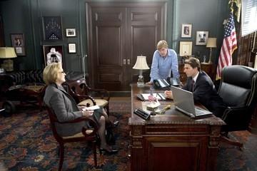 Tom Cruise, Meryl Streep e Robert Redford in una scena de Leoni per agnelli