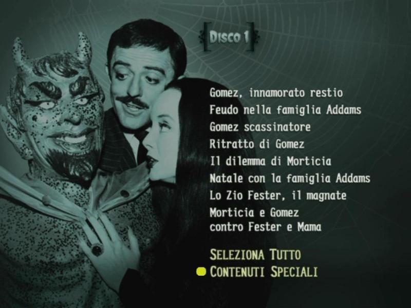 Il menù del primo disco del cofanetto 'La Famiglia Addams - Volume 3'