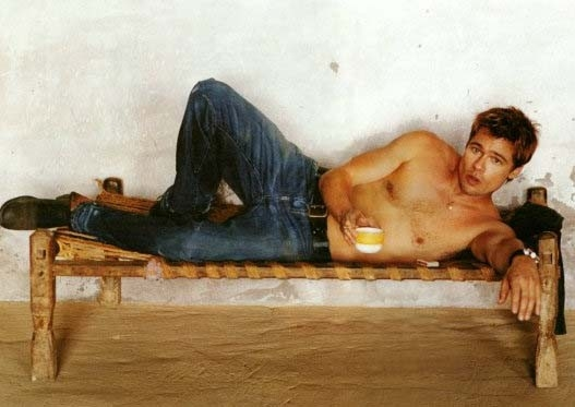 Una sexy foto di Brad Pitt