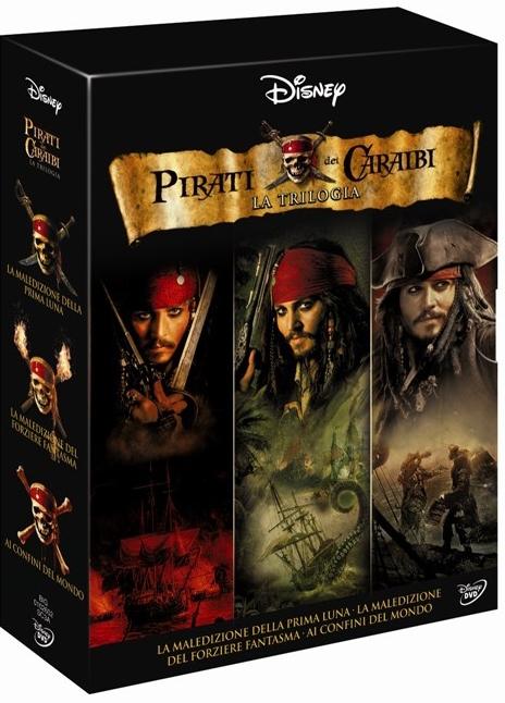 La copertina DVD di Piraiti dei Caraibi - La trilogia