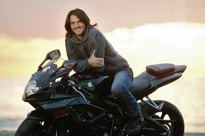 Giulio Berruti in sella alla sua moto