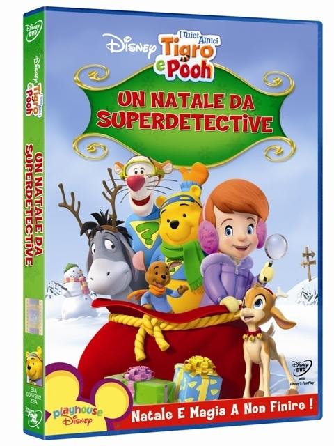 La copertina DVD di I miei amici Tigro e Pooh. Un Natale da superdetective