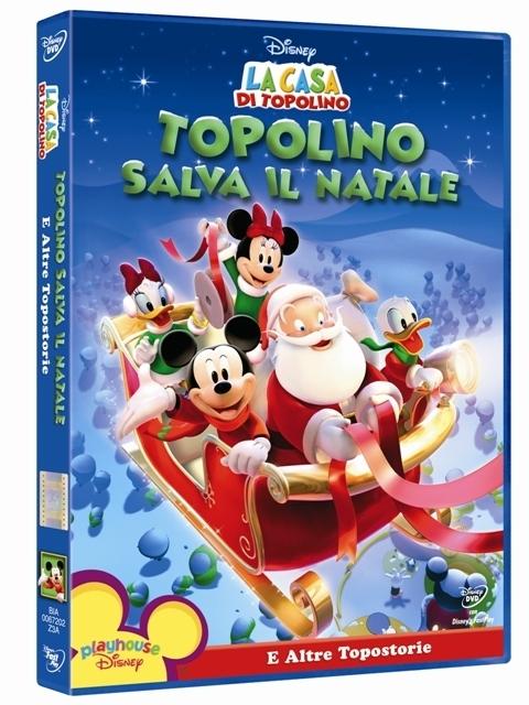 La copertina DVD di Topolino salva il Natale e altre topostorie