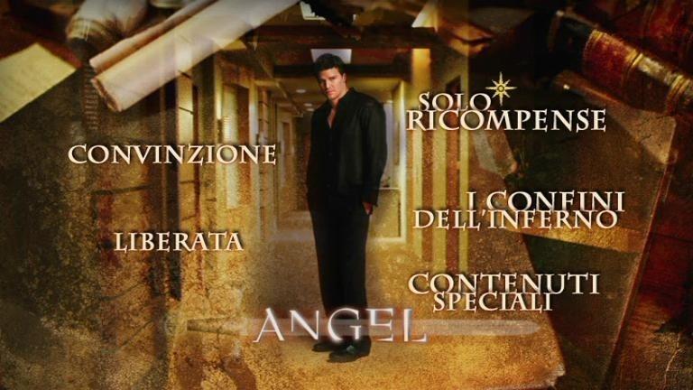 La schermata del menù della quinta stagione di Angel
