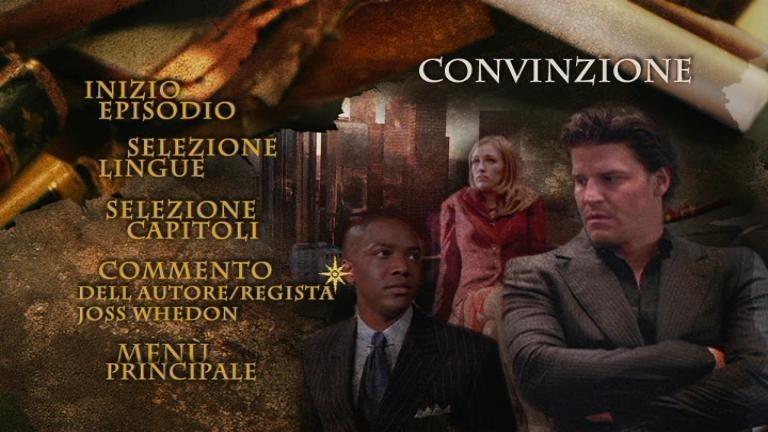 La schermata di un episodio della quinta stagione di Angel