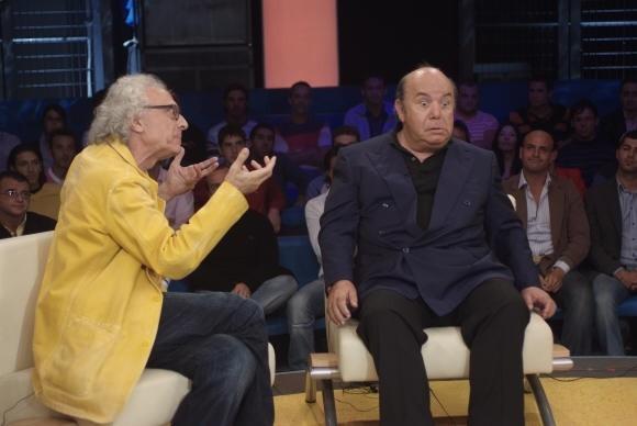 Lino Banfi e Giampiero Mughini ne L'allenatore nel pallone 2