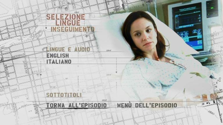 La schermata di selezione lingua di un episodio del primo disco di 'Prison Break . Stagione 2 (Vol.1)'
