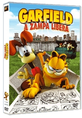La copertina DVD di Garfield a zampa libera