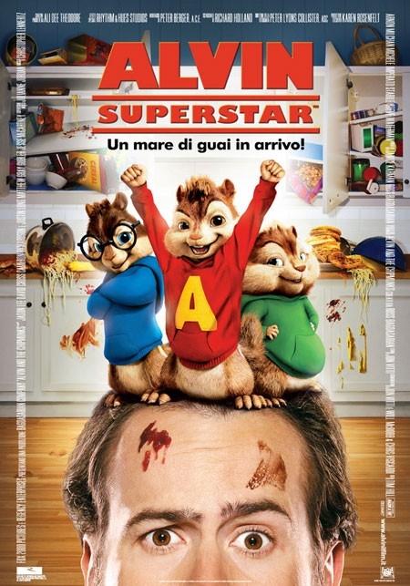 La locandina italiana di Alvin Superstar