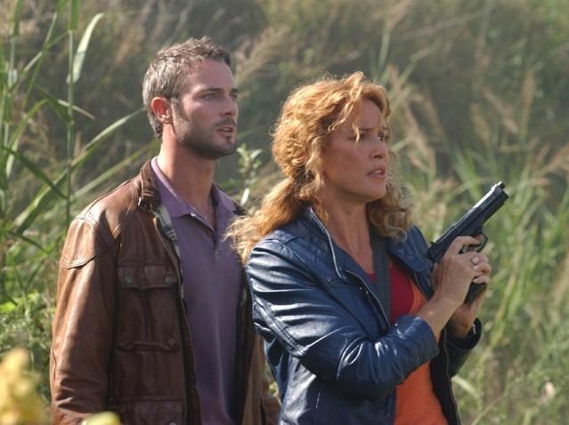 Lucrezia Lante della Rovere e Flavio Montrucchio in una scena di 'Donna detective'