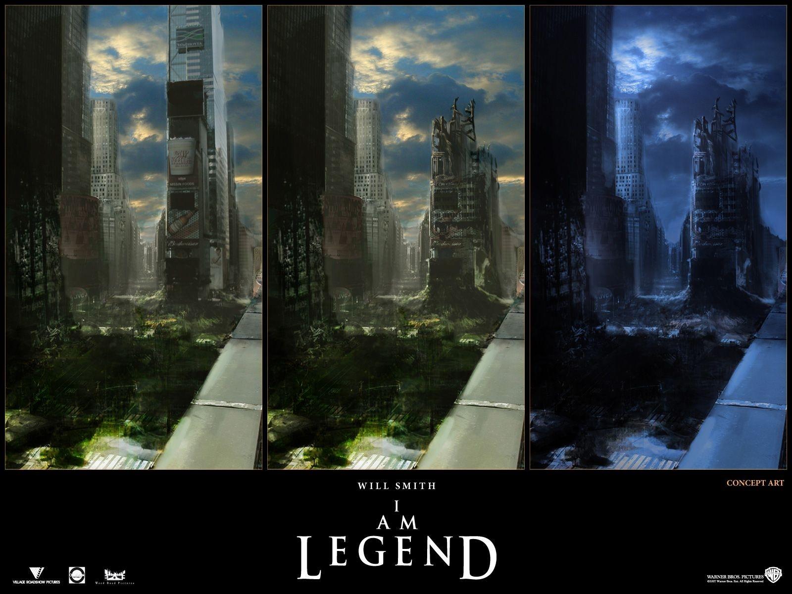 Wallpaper del film Io sono leggenda liberamente tratto dal romanzo di Richard Matheson