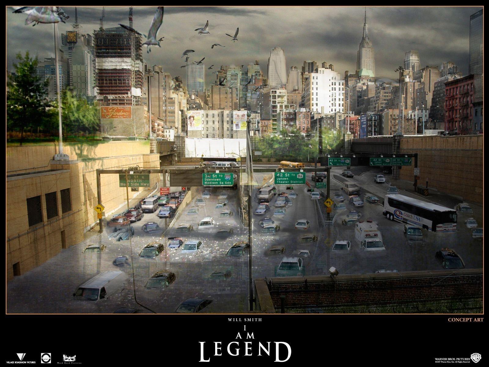 Wallpaper del film Io sono leggenda di F. Lawrence