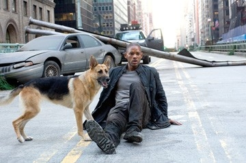 Will Smith in una sequenza di Io sono leggenda, di Francis Lawrence (2007)