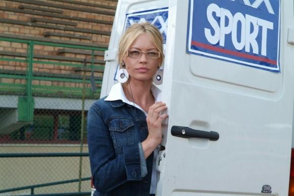 Anna Falchi in una scena del film L'allenatore nel pallone 2