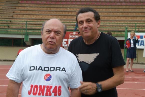 Lino Banfi e Andrea Roncato in L'allenatore nel pallone 2