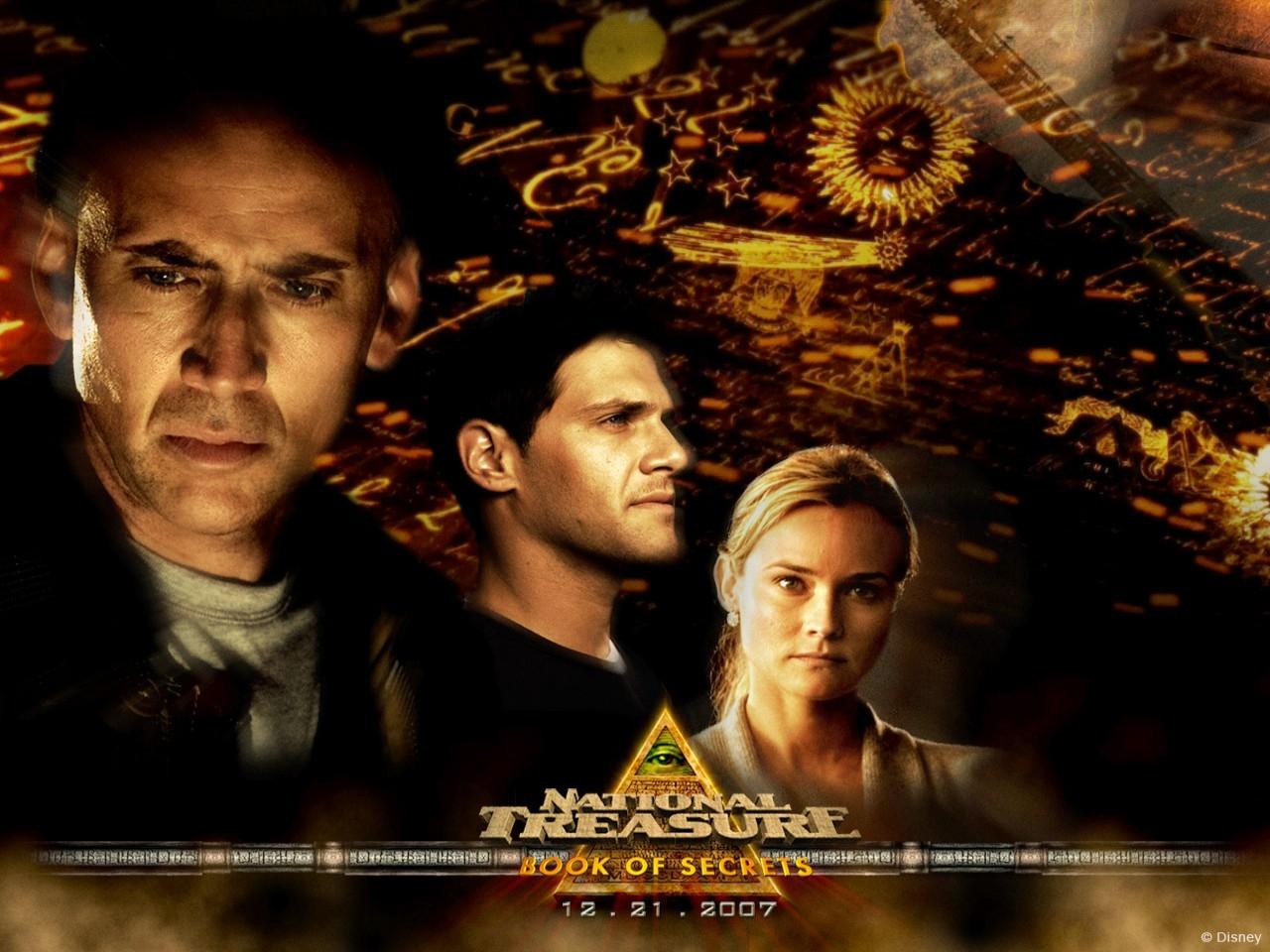 Wallpaper del film Il mistero delle pagine perdute con Nicolas Cage