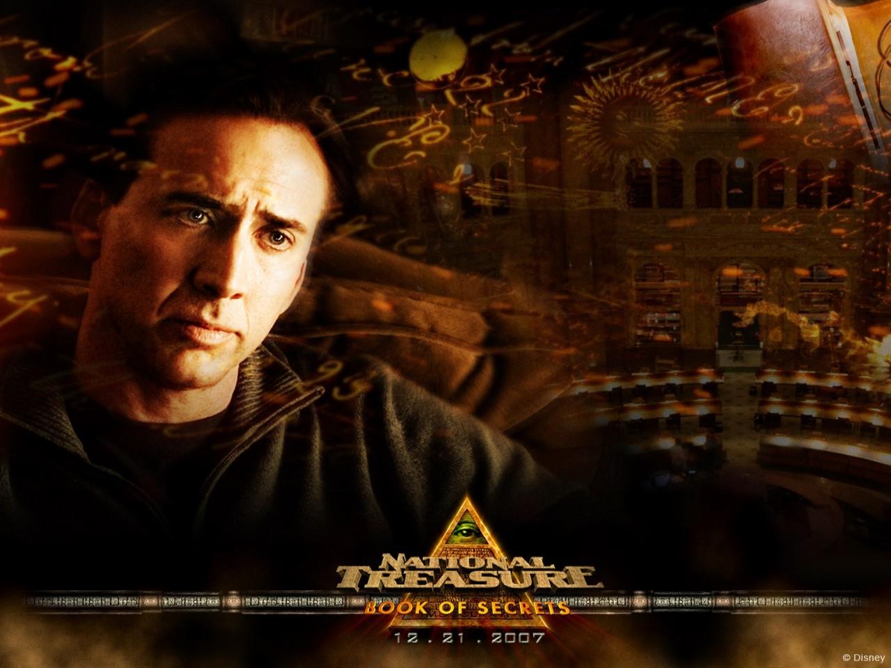Nicolas Cage in un wallpaper del film Il mistero delle pagine perdute