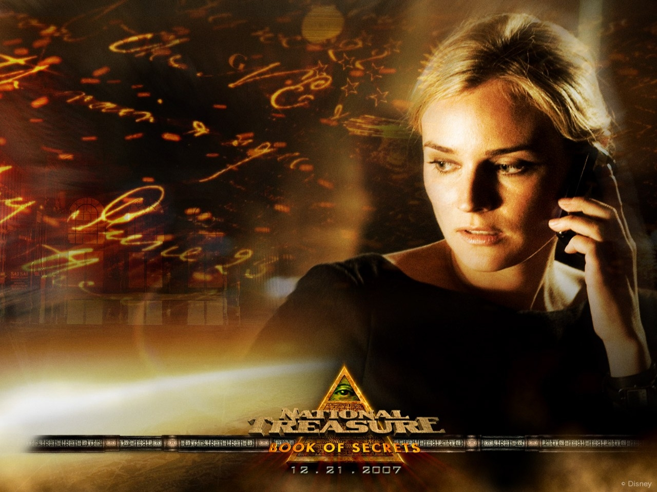 Wallpaper del film Il mistero delle pagine perdute con Diane Kruger