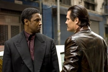 Denzel Washington e Josh Brolin in una scena del film American Gangster