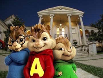 I tre roditori protagonisti di Alvin Superstar