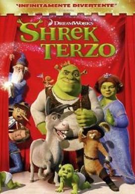 La copertina del DVD di Shrek Terzo