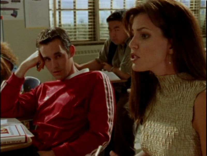 Nicholas Brendon e Charisma Carpenter in una scena dell'episodio 'La verità fa male' di Buffy - L'ammazzavampiri