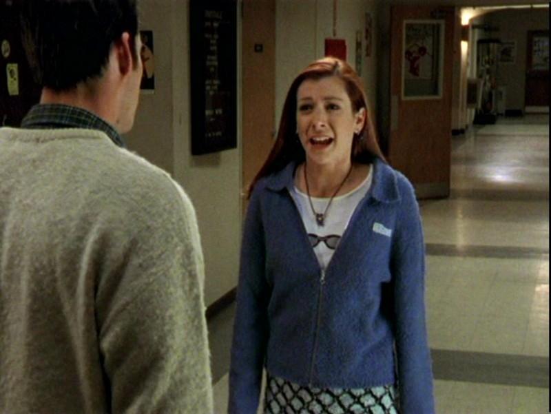 Nicholas Brendon e Alyson Hannigan  in una scena dell'episodio 'Un attimo di felicità' di Buffy - L'ammazzavampiri
