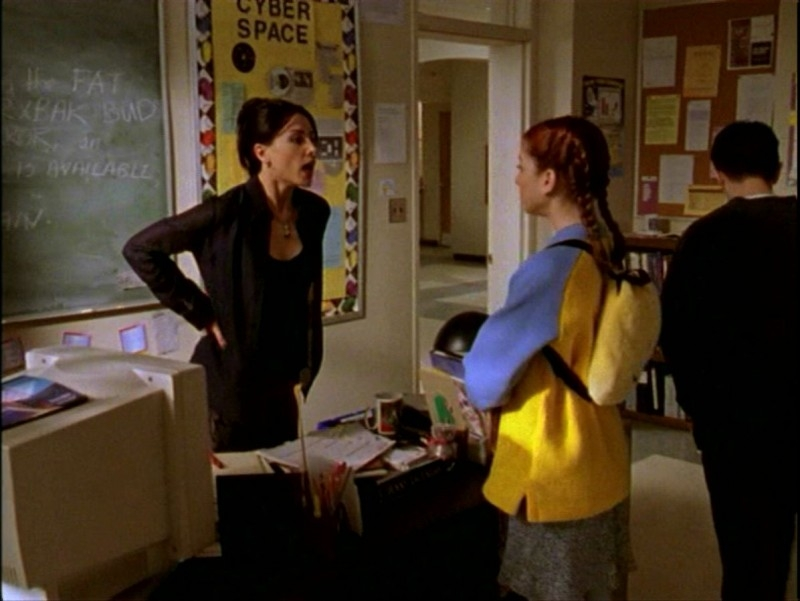 Alyson Hannigan e Robia LaMorte nell'episodio 'Passioni' di Buffy - L'ammazzavampiri