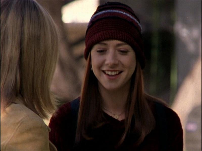 Alyson Hannigan in una sequenza dell'episodio 'Notte di luna piena' di Buffy - L'ammazzavampiri