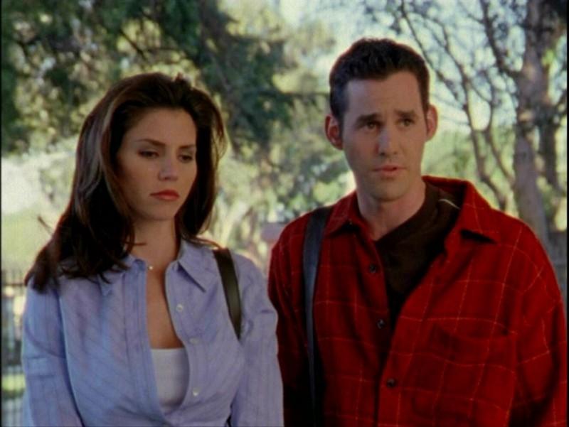 Nicholas Brendon e Charisma Carpenter nell'episodio 'Passioni' di Buffy - L'ammazzavampiri
