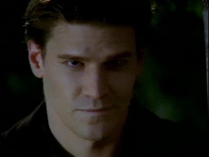David Boreanaz nell'episodio 'L'inizio della storia (1ª parte)' della seconda stagione di Buffy - L'ammazzavampiri