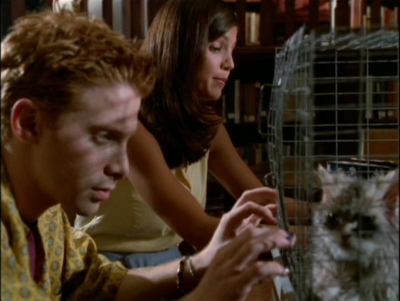 Seth Green e Charisma Carpenter nell'episodio 'La festa dei morti viventi' di Buffy - L'ammazzavampiri