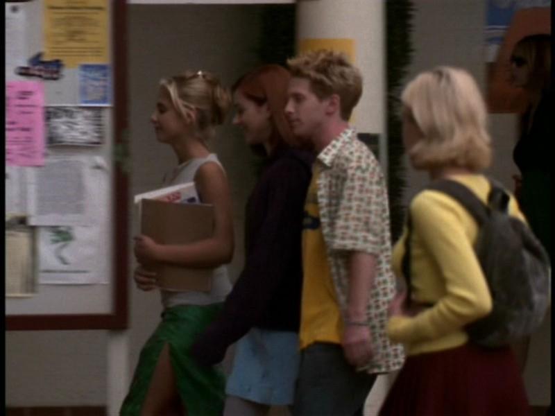 Seth Green, Alyson Hannigan e Sarah Michelle Gellar nell'episodio 'I dolci della banda' di Buffy - L'ammazzavampiri