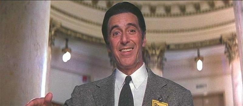 Al Pacino in una sequenza de L'AVVOCATO DEL DIAVOLO