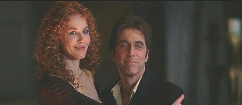 Connie Nielsen e Al Pacino in una scena de L'AVVOCATO DEL DIAVOLO