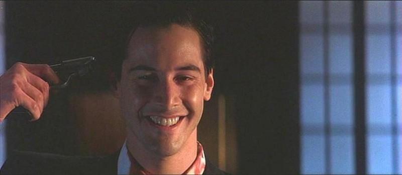 Keanu Reeves in una scena de L'AVVOCATO DEL DIAVOLO (1997)