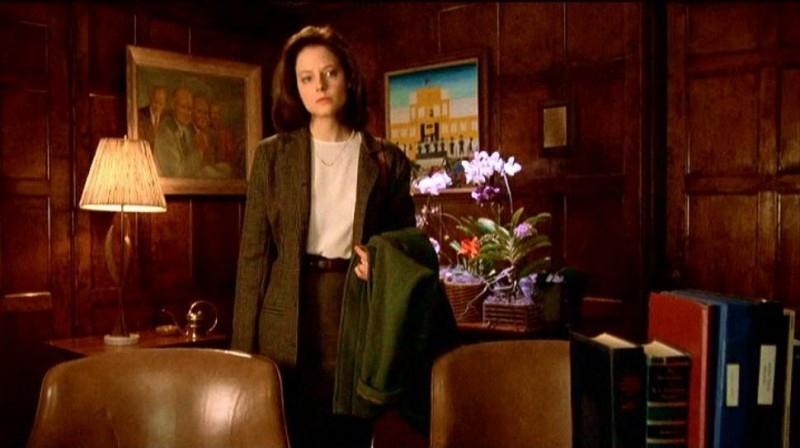 Jodie Foster in una sequenza de IL SILENZIO DEGLI INNOCENTI