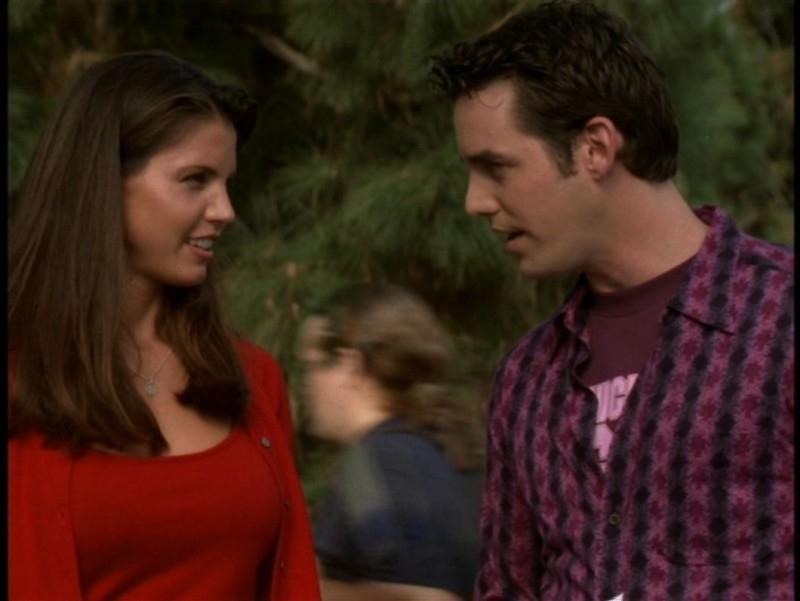 Charisma Carpenter e Nicholas Brendon nell'episodio 'Il sentiero degli amanti' di Buffy - L'ammazzavampiri