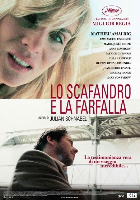 La locandina italiana di Lo scafandro e la farfalla