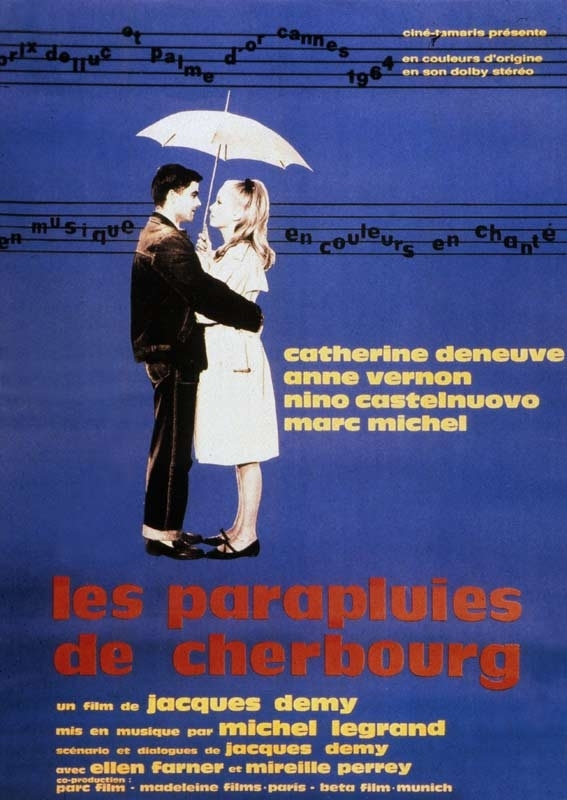 La locandina di Les Parapluies de Cherbourg
