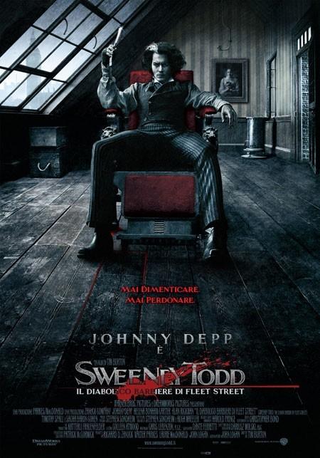 La locandina italiana di Sweeney Todd