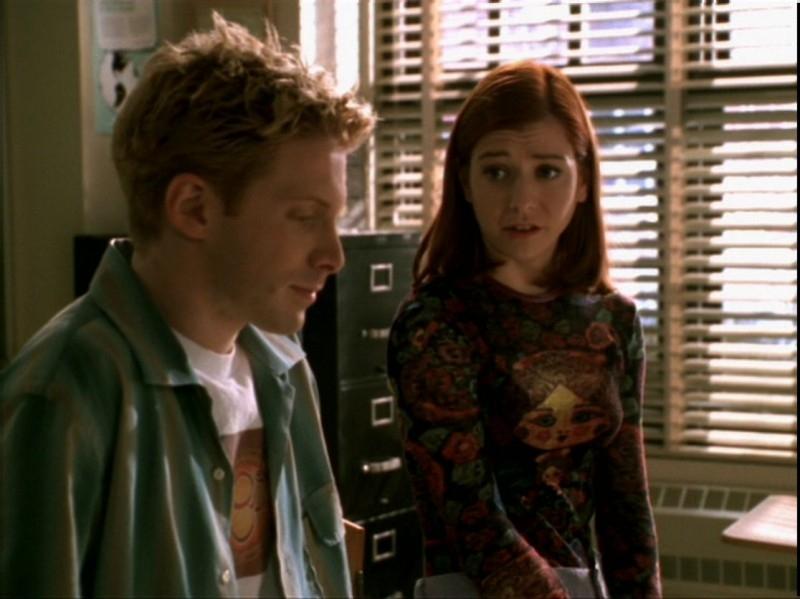 Alyson Hannigan e Seth Green nell'episodio 'Espiazioni' di Buffy - L'ammazzavampiri