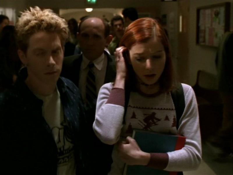 Seth Green e Alyson Hannigan in una scena dell'episodio 'Le streghe di Sunnydale' di Buffy - L'ammazzavampiri
