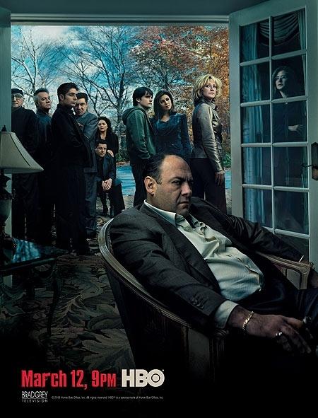 Il poster della sesta stagione de 'I Soprano'