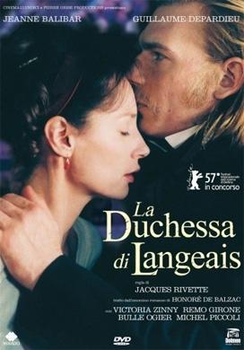 La copertina DVD di La duchessa di Langeais