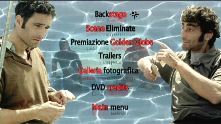La schermata del menù degli extra di Io, l'altro