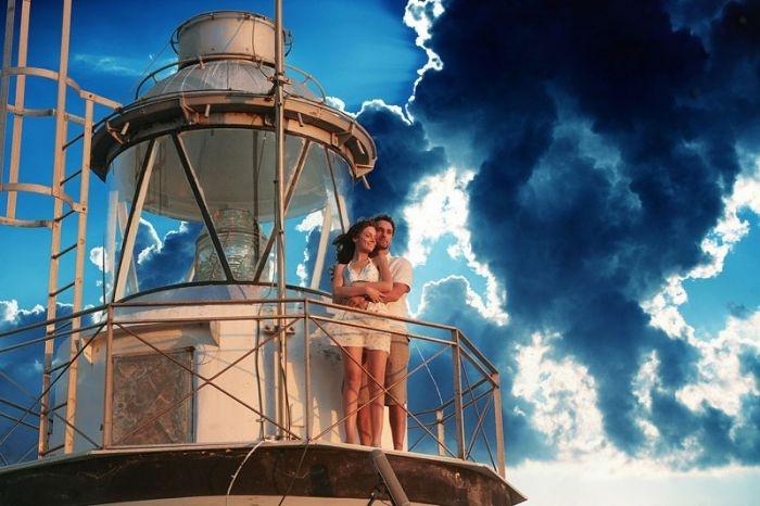 Raoul Bova e Michela Quattrociocche in una suggestiva immagine del film Scusa, ma ti chiamo amore