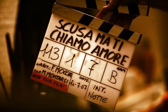sul set del film Scusa ma ti chiamo amore, tratto dall'omonimo romanzo di Federico Moccia.
