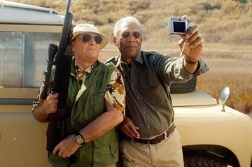Jack Nicholson e Morgan Freeman in una sequenza di Non è mai troppo tardi (The Bucket List)
